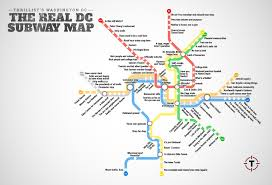 Washington Dc Map Of Attractions by Metrorail Metro Lines Transit Subway Underground Tube Diagram