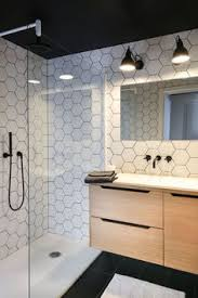 statement tiles black and white bathroom home bathroom
