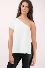 one shoulder blouse white blouse one shoulder blouse white blouse 17 tobi us