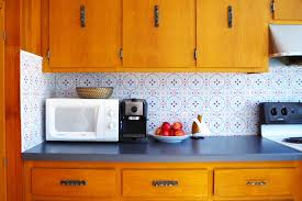 diy kitchen backsplash on a budget kitchen amusing temporary kitchen backsplash vinyl wallpaper for