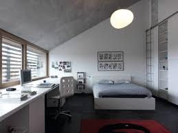 jugendzimmer dachschräge modernes schlafzimmer jugendliche junge dachschräge weiß grau