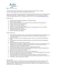 Resume Sample For Front Desk Receptionist by Sample Cv For Internal Medicine Residency