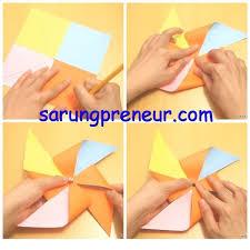 cara membuat origami kincir angin cara membuat kincir angin dari kertas hanya dengan 3 langkah mudah
