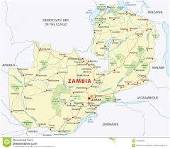 Denali National Park Map Zambia Road And National Park Map Stock Vector Image 47686393