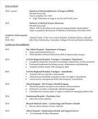 Free Australian Resume Template Doctor Resume Sample Documents In Pdf Psd