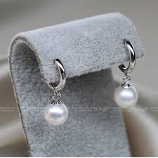 real earrings daimi pearl earrings lever back 925 silver real 7 8mm