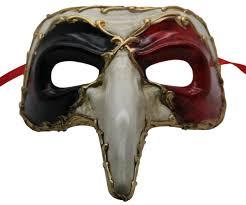 black venetian mask white and black zanni venetian mask