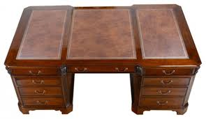 Partner Desk With Hutch Niagara Furniture Large Mahogany Partner Desk Leather Top For
