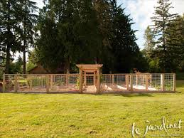 Types Of Fencing For Gardens - farming using types of deer fencing harvested bamboo for deer