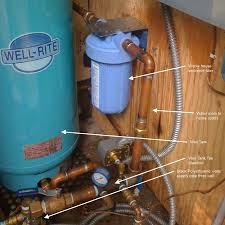 whole house water filter cabin diy