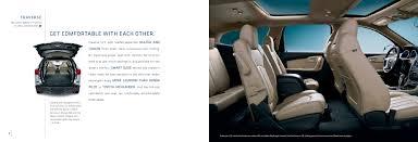 2010 chevrolet traverse crossover suv brochure