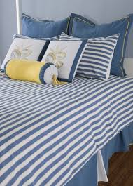 Blue Striped Comforter Set White And Blue Striped Queen Comforter Buy Seashore Bedding Set