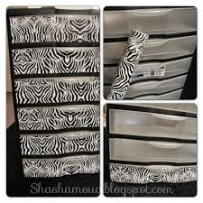 Zebra Bathroom Decorating Ideas by Diy Zebra Plastic Drawers Yes Please Embrace The Zebra