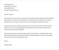 resignation letter for medical best 20 resignation email sample