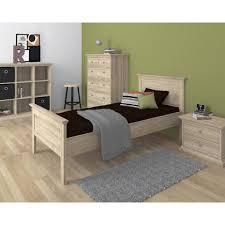 Esszimmerst Le In Eiche Rustikal Einzelbett Pariso 90x200 Cm Eiche Dänisches Bettenlager