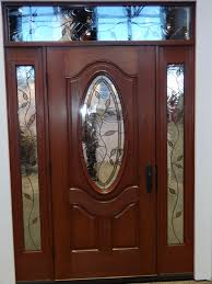 wooden front doors with glass front door design fabricated by