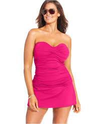 anne plus size swim skirt in purple lyst
