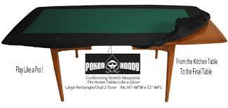 neoprene game table cover two tone lg racetrack deluxe poker hoody neoprene for large sized