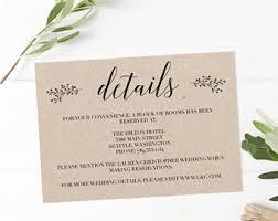 wedding inserts wedding insert etsy