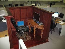 Office Desk Prank Office Pranks Cube Wars Formal Office Mahogany Paneled