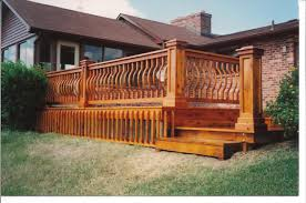 garden outdoor wooden backyard come with wooden deck with stair