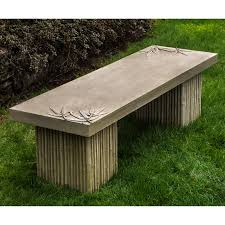 Rustic Outdoor Bench by Henri Studio Traditional Garden Bench Hayneedle