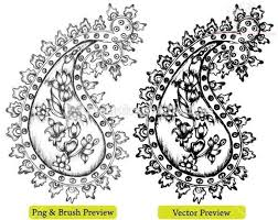 paisley pattern henna tattoo designs for hand