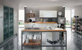 minimalist kitchen ideas of picture featuring free standing