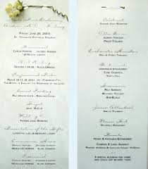 wedding program layouts wedding program sles weddingprogram sle1 sm gif