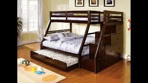 ellington dark walnut finish wood twin over full bunk bed with