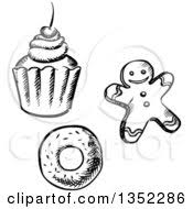 clipart of a gingerbread man christmas cookie royalty free