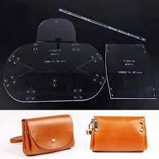 wuta mini clutch handbag template acrylic leather pattern craft