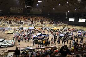 monster truck shows 2015 file monster trucks inside brown county arena 2015 jpg wikimedia