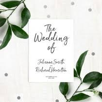 Flat Wedding Programs Wedding Ideas Style 337 Weddbook