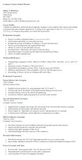 computer science resumes resume summary for students skywaitress co