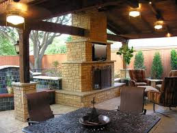 Out Door Patio Outdoor Fireplace And Patio Designs Frantasia Home Ideas