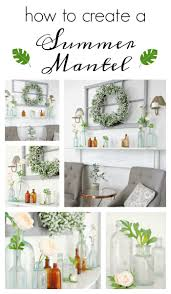 create a summer mantel with favorite things town u0026 country living