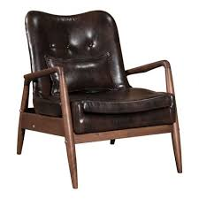 Single Seat Leather Lounge Chair Design Ideas 100535 Bully Lounge Chair U0026 Ottoman Brown