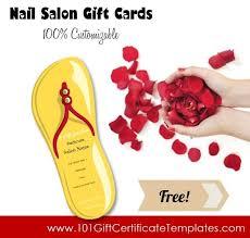 nail salon gift cards salon gift certificates