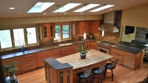 island peninsula kitchen multi level kitchen island ideas photo gallery home living now 97475