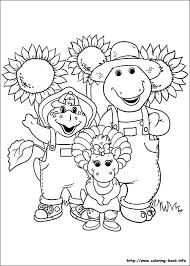barney friends coloring picture barney