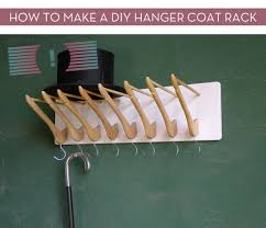 how to make a diy hanger coat rack curbly