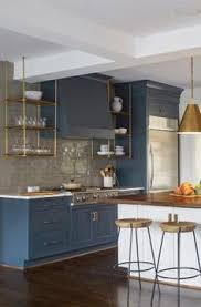 Grey Blue Cabinets A Casual Comfy Bachelor Pad Masculine Kitchen Chelsea Gray And