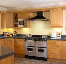 awesome shaker kitchen style come with brown color oak wood