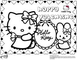 hello kitty valentine coloring pages asoboo info