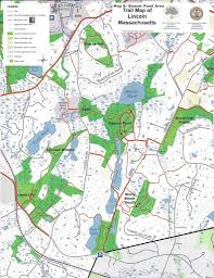Lexington And Concord Map Masstrails Com Lincoln