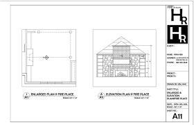 fireplace elevation plan portfolio autocad pinterest