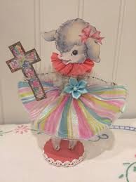 chenille easter vintage style bump chenille easter figure by artzeeshell on etsy