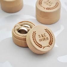 custom wedding ring personalized rustic wedding ring box custom wedding ring bearer