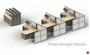 Portable Office Desks The Office Leader Peblo Mobile Portable Folding 3 Station Cubicle